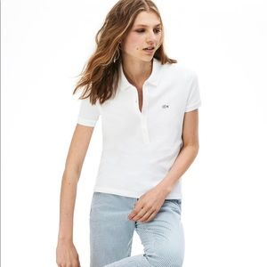 White Lacoste women's shirt